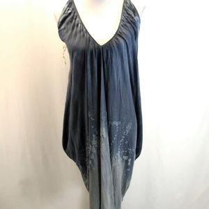 New M Rena One Size Halter Dress Cover Up BlueNWT, used for sale